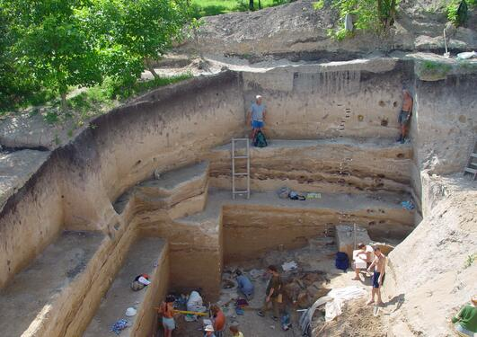 Excavation - Kostenki, Russia.