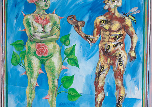 Laurie Grundt: Sokrates og Xantippe, 1997.