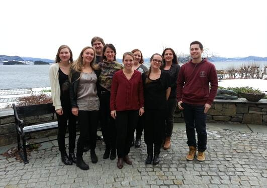 Hele SEFAS gruppen samlet. Fra venstre: Ane Erdal (ph.d-kandidat), Elisabeth...