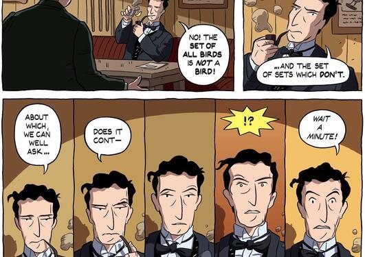 Tegneserieromanen Logicomix handler om Bertrand Russell og hans jakt på...