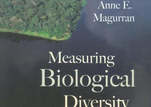 "Cover of ""Measuring Biological Diversity"", Blackwell"