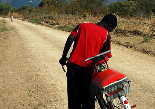 Sykkeldrosje i Malawi