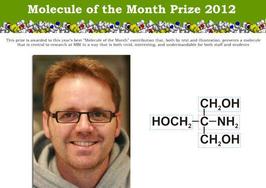 "MBIs pris for beste ""Molecule of the Month"" for 2012 til Marc Niere"