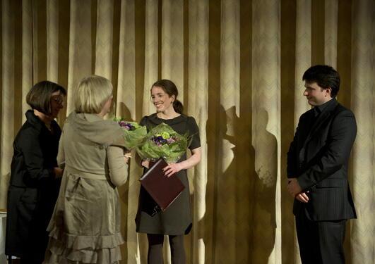 Inga Berre og Charalampos Tzoulis får Meltzerprisen for yngre forkarar av...