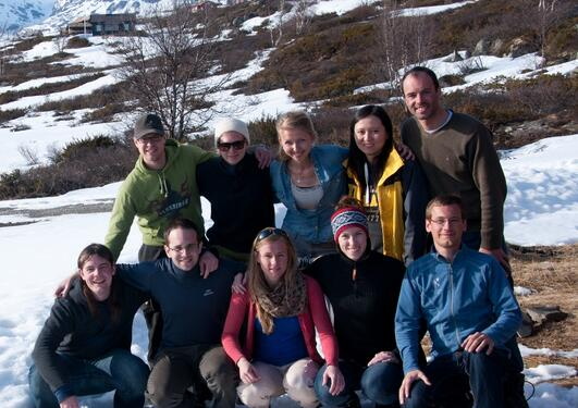 Students taking the Mesoscale Dynamics seminar in Ustaoset, spring 2012.