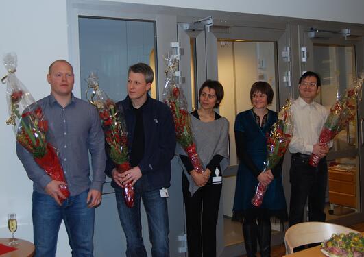 Også i 2009 delte BMFS ut midler til yngre forskere. Her fra fjorårets...