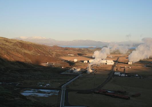 Jordvarmekraftverket på Nesjavellir, Island.