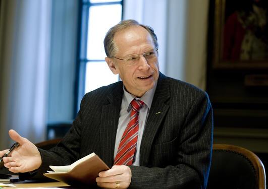 Rektor Per Eriksson er ein av fleire som held innlegg på Christiekonferansen...
