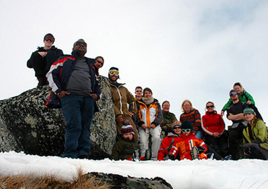 Participants at the annual Ph.d.-forum stay at Finse in 2008.