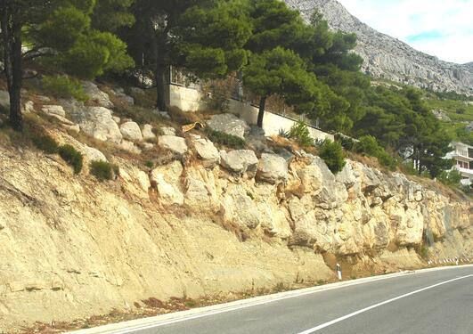 Turbiditic channel in the Eocene Makarska Flysch, Croatia.