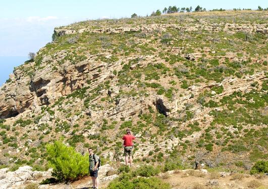 Plio-Pleistocene Gilbert-type delta, Gulf of Corinth, Greece.