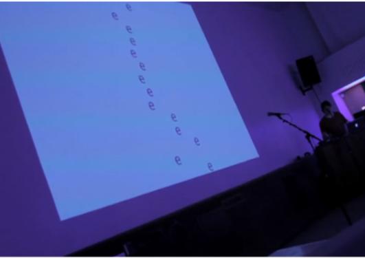 Jorg Piringers kinetiske bokstavdikt ble vist på Landmark 8. november 2009 i...