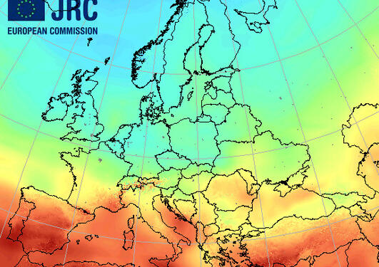 Solar energy potential for Europe (Downloaded from : http://ec.europa.eu/dgs...