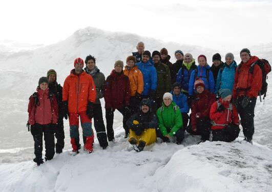 Årets første snøfall møtte kursdeltakeren på Finse den første dagen.