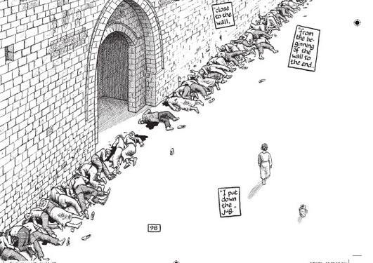 """I boken """"Fotnoter i Gaza"""" gir tegneserieskaper Joe Sacco liv til historier..."""