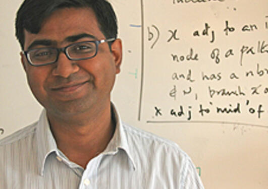 """I'm not really a very busy man"" says postdoc Saket Saurabh, with four..."