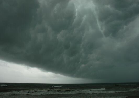 Truende skyer.