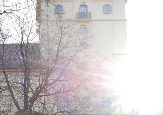 Bildet illustrerer stråling ved sollys.