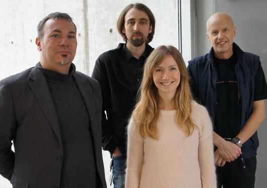 Liv E. Falkenberg, Karsten Specht (f.v.), René Westerhausen og Kenneth Hugdal...