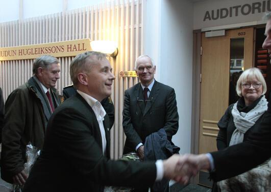 """Justisminister Knut Storberget fortalte at han får """"full tenning"""" av..."""