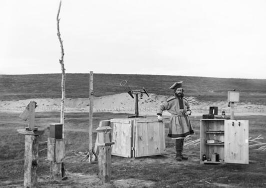 Sophus Tromholt satte opp nordlysobservatorium i Kautokeino i 1862. Her er et...