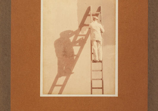 Ralph L. Wilson: Malere på stige, 1910/-30.