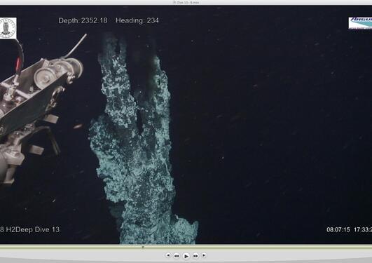 Verdas nordlegaste varmekjelde på 2400 meters djup.