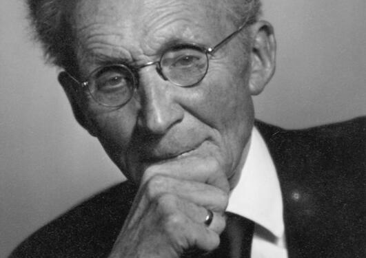 Vilhelm Bjerknes Portrett 1946
