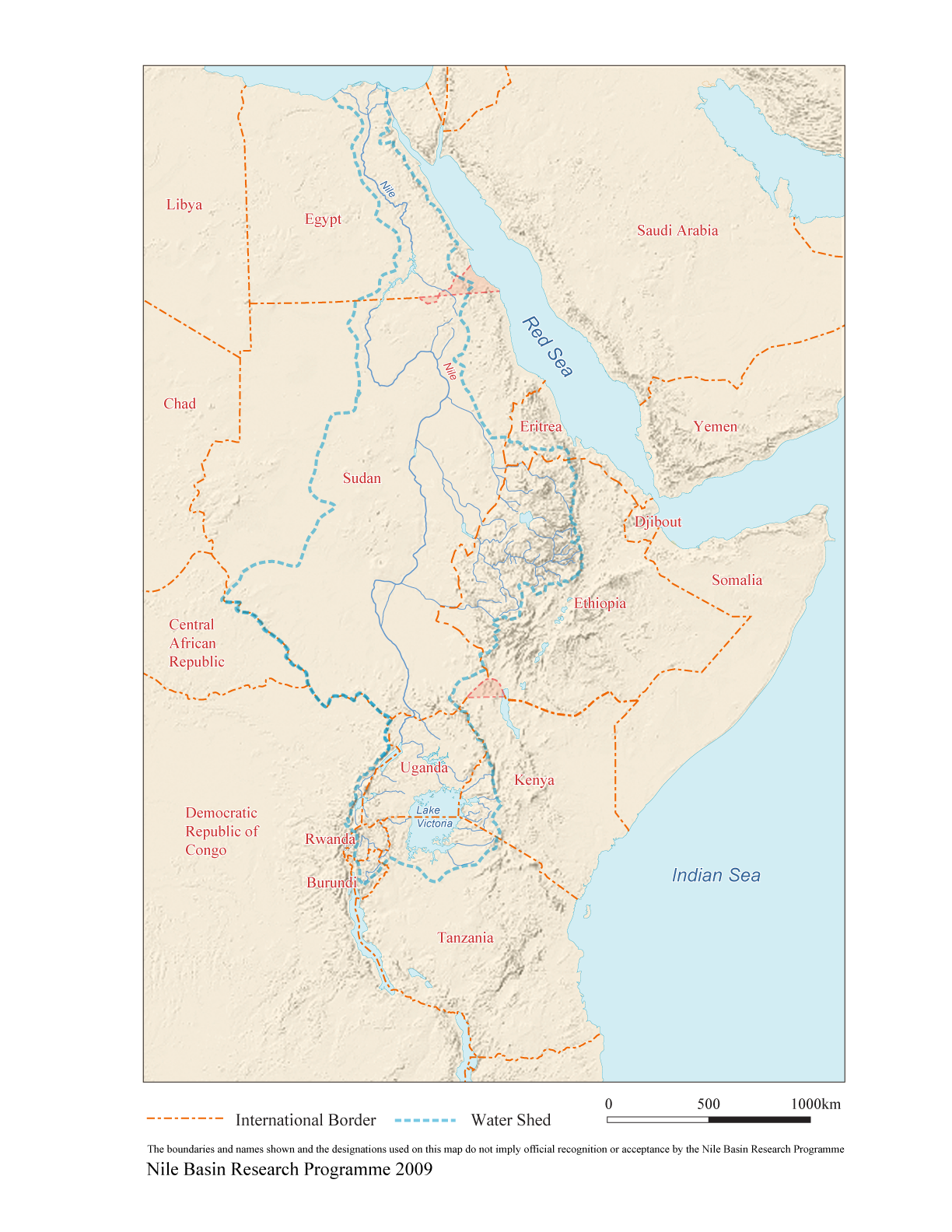 Map Of Africa River Nile.Maps Of The Nile Basin Nile Basin Research Programme University